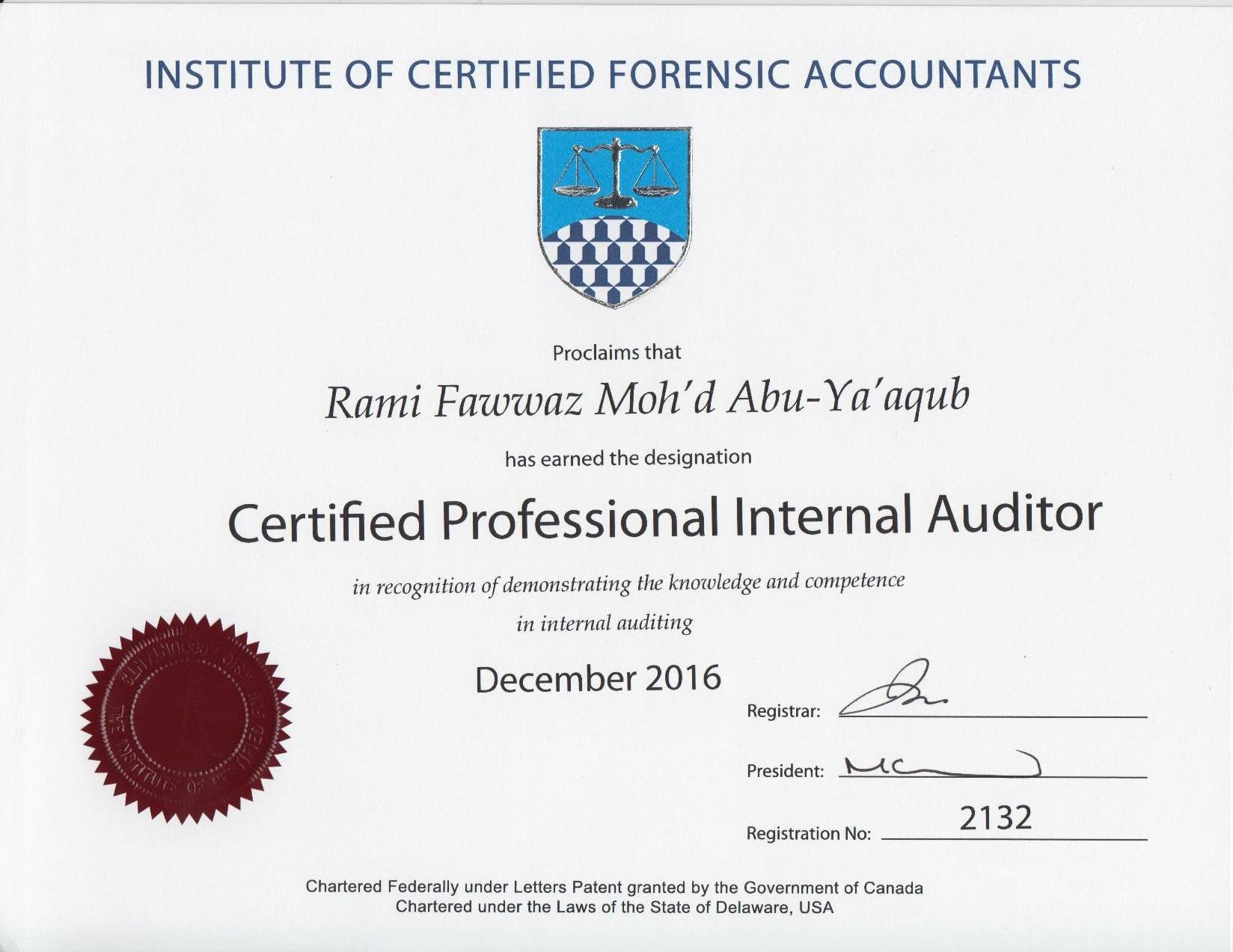 certified professional internal auditor cpia 1betcityfo Image collections