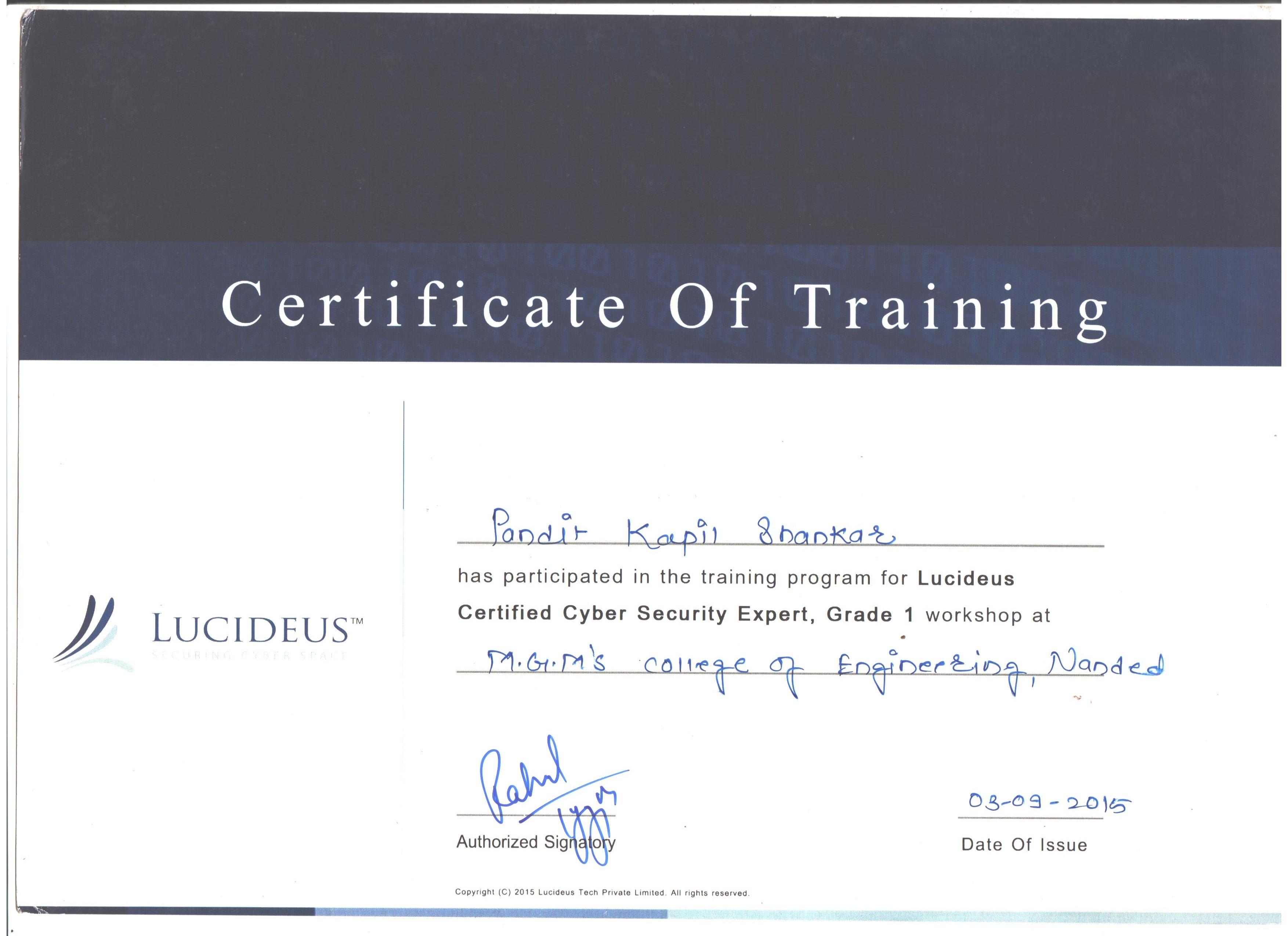 Kapil pandit bayt training institute lucideus xflitez Image collections