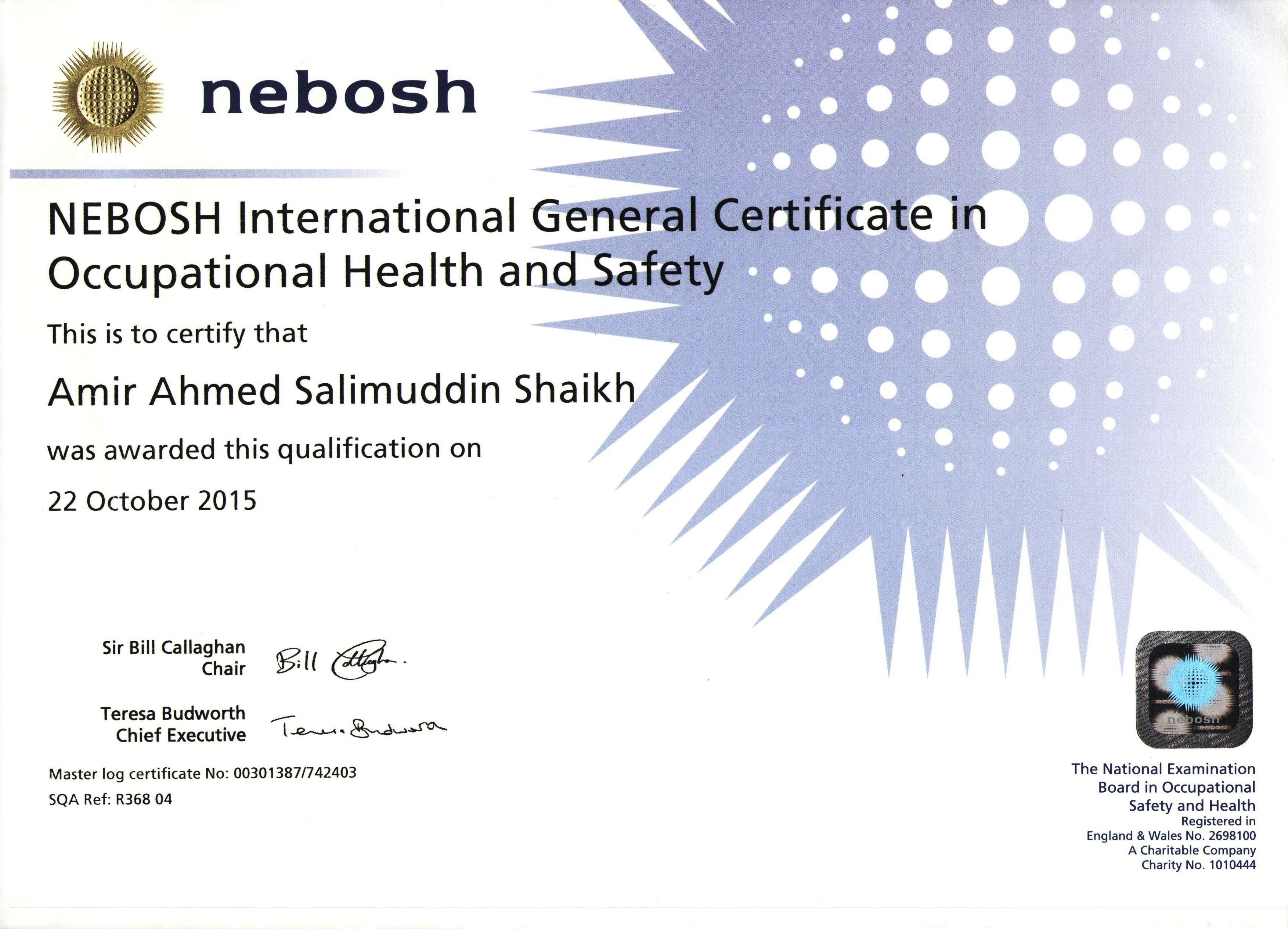 NEBOSH International General Certificate UK Training