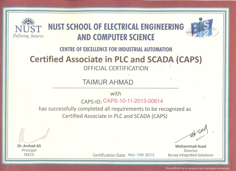 Taimur ahmad bayt training institute nust school of ectrical engineering computer science xflitez Choice Image