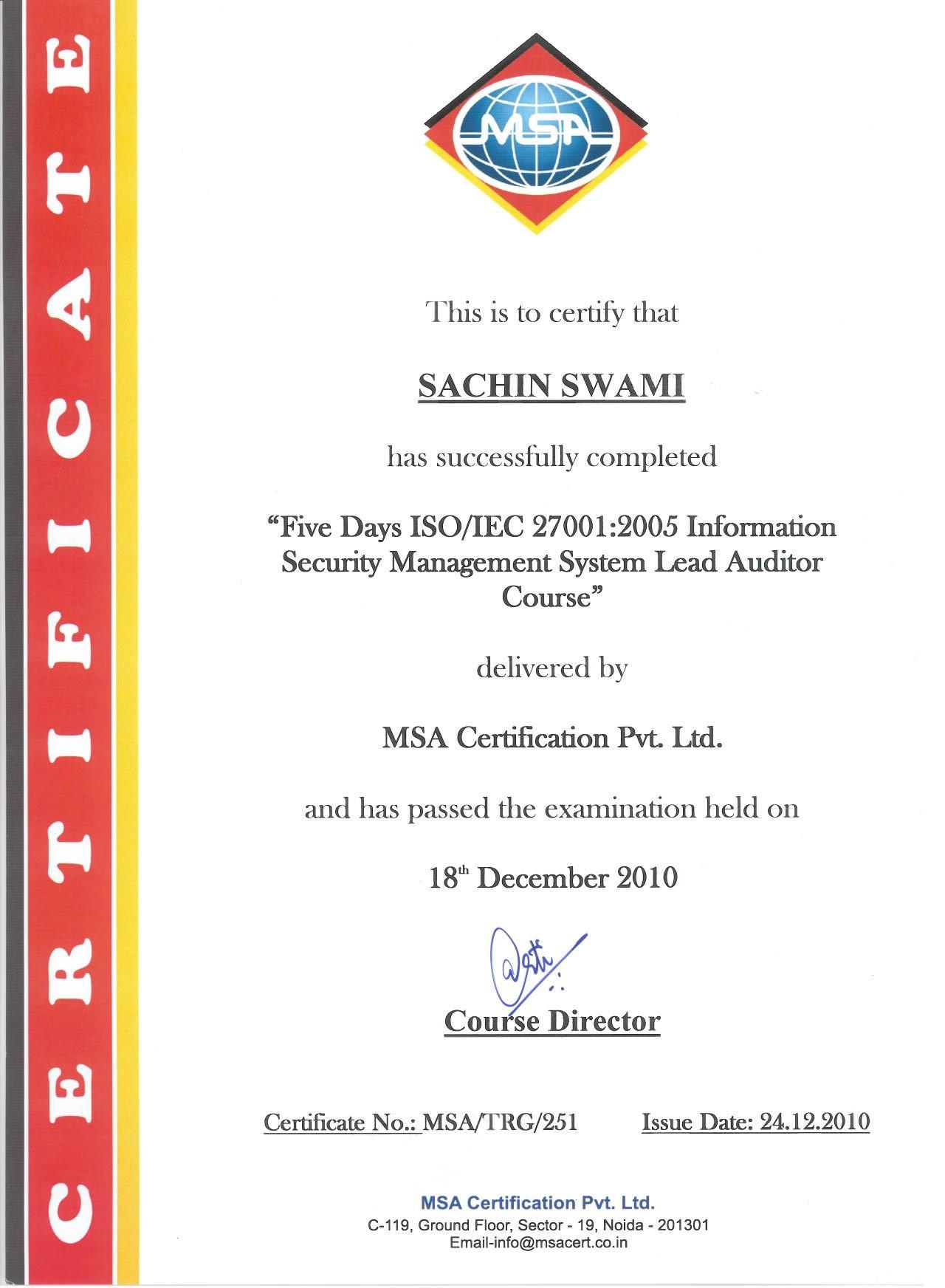 Sachin swami bayt training institute msa certification pvt ltd xflitez Choice Image