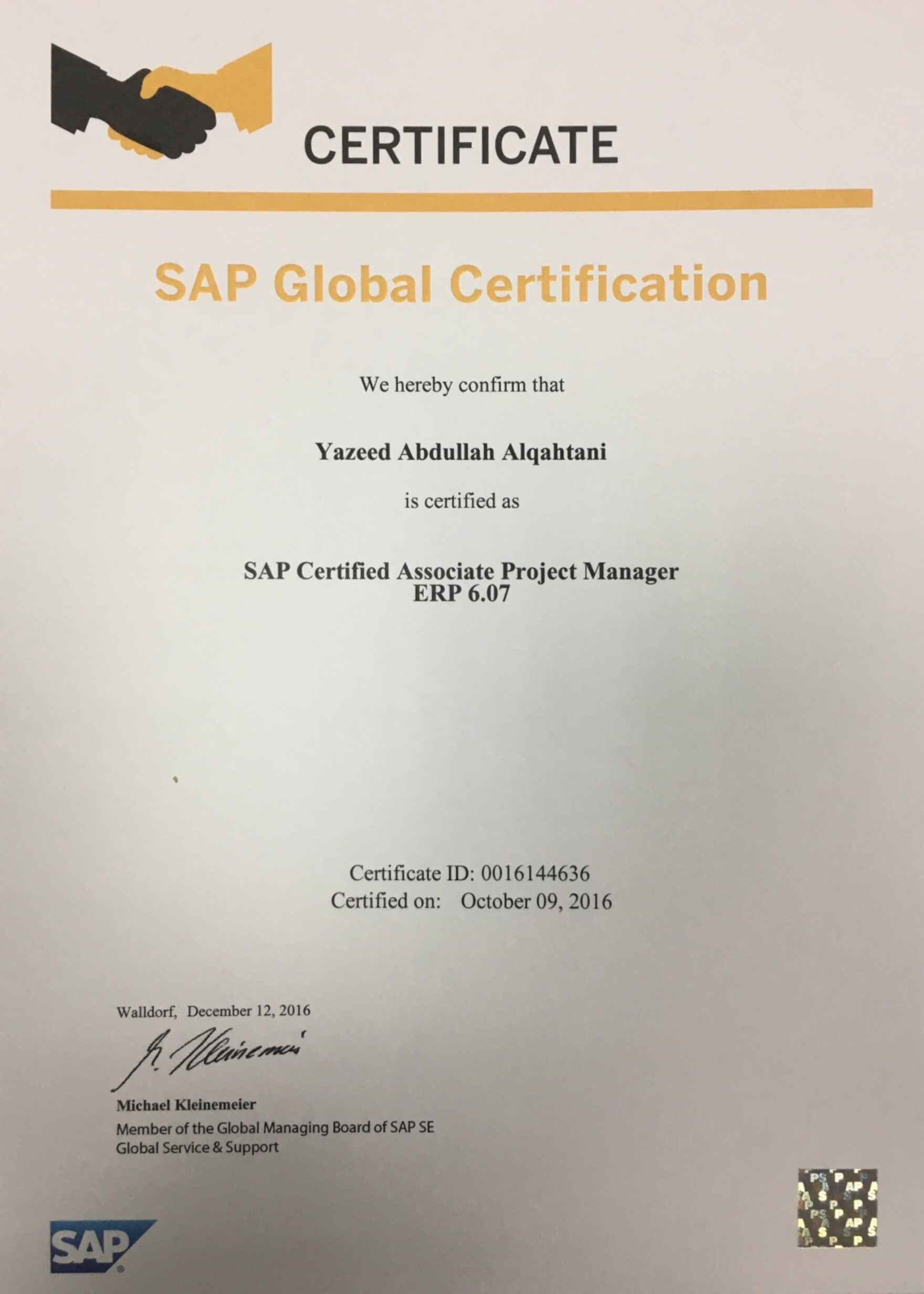 bayt sap certified associate project manager certificate 1betcityfo Choice Image