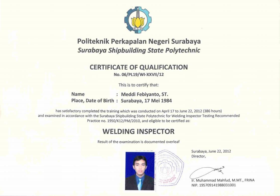 Welding Inspection Certificate Related Keywords Suggestions