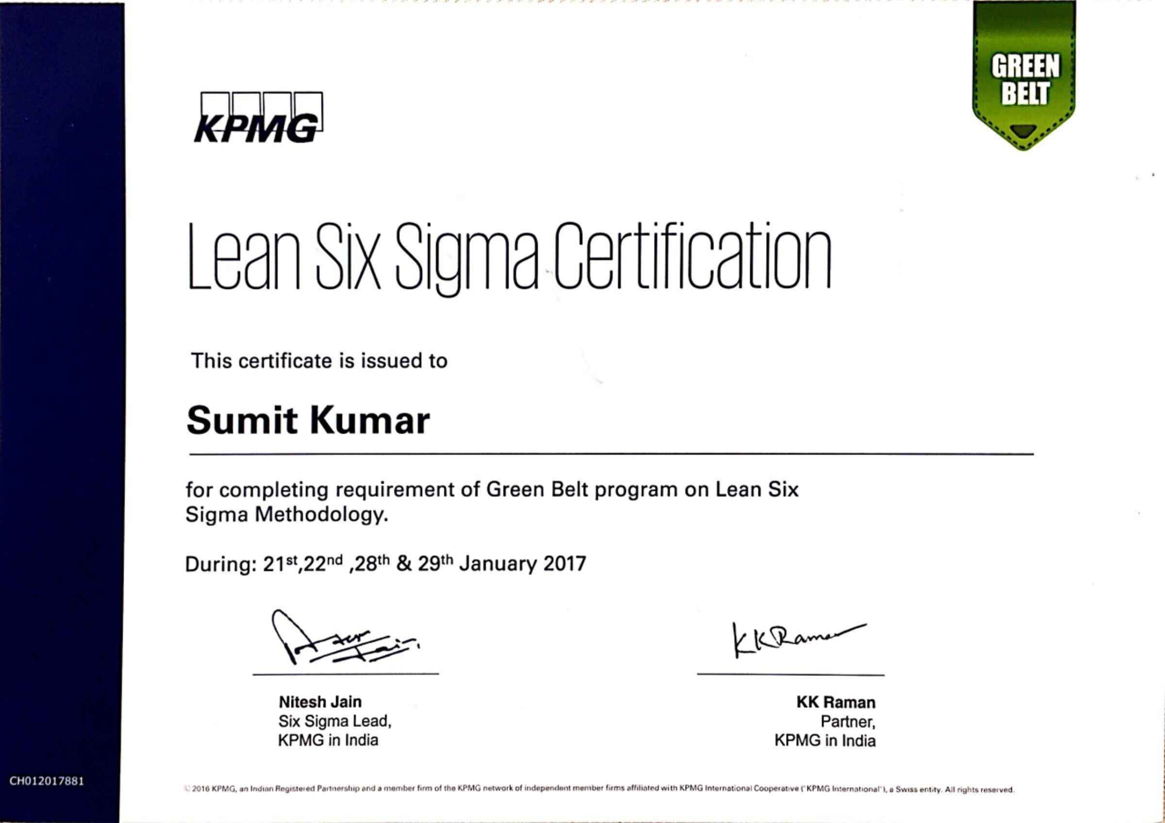 Lean Six Sigma Certification India Image Collections Creative