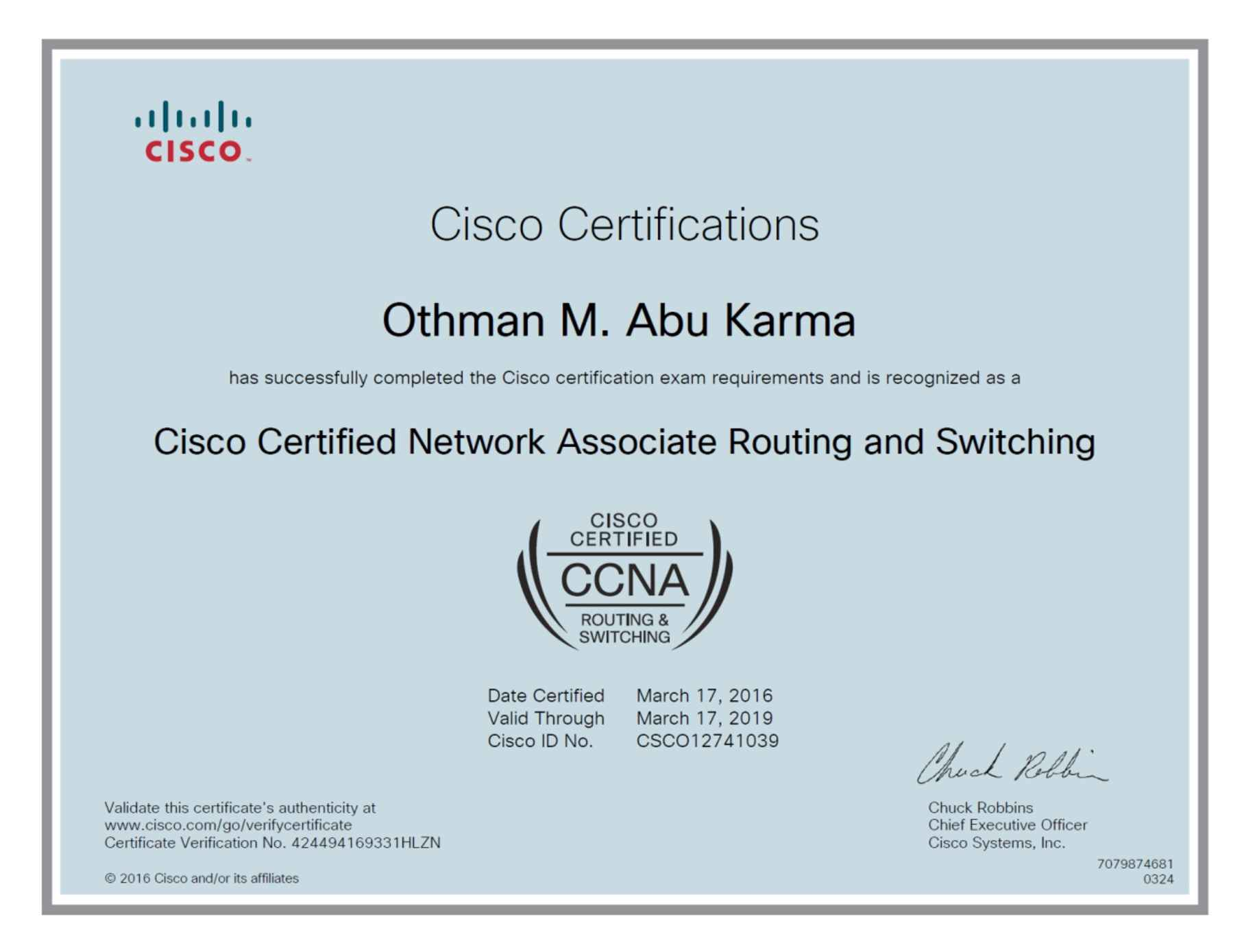 Othman abu karma bayt cisco certified network associate ccna certificate 1betcityfo Gallery