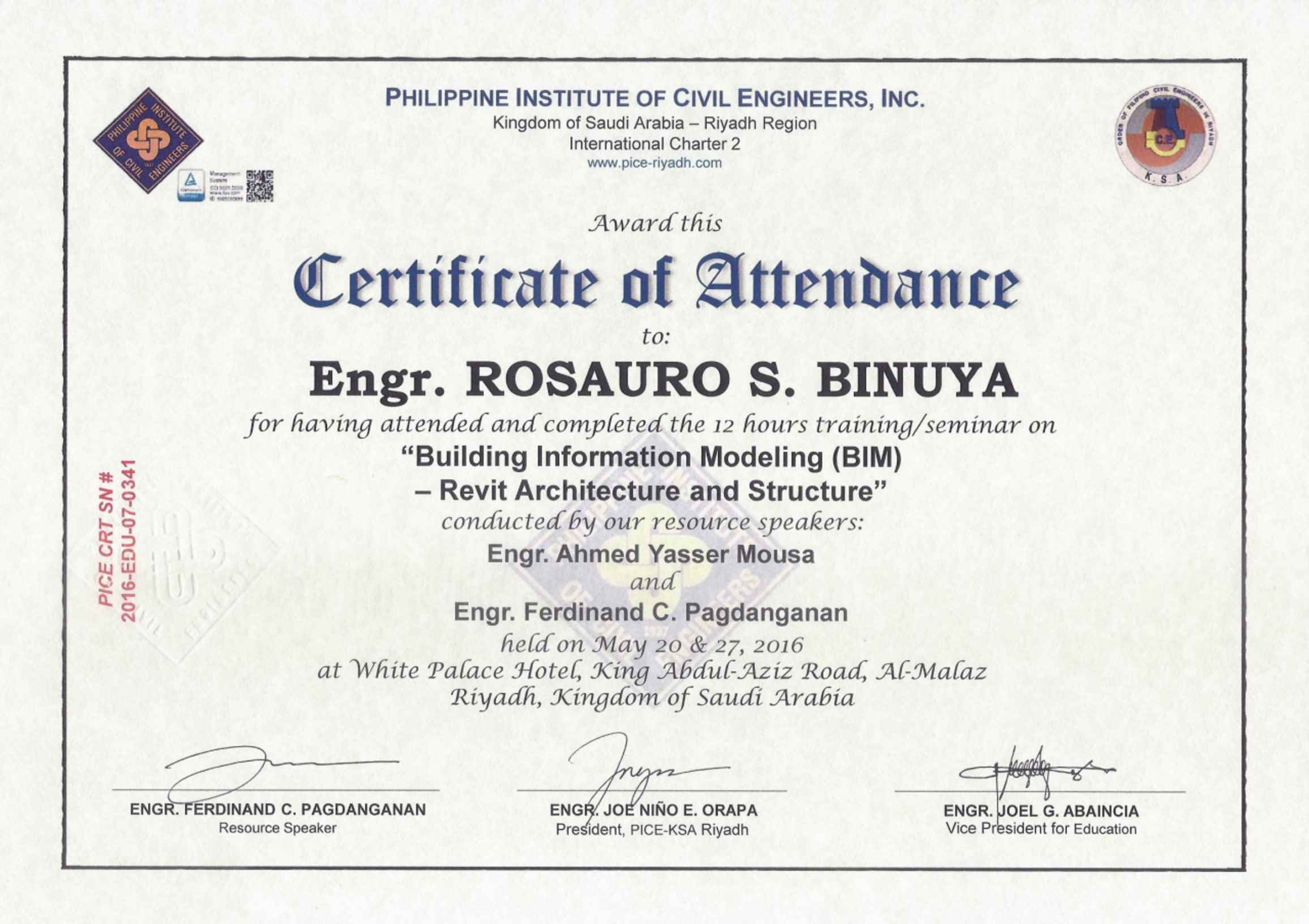 Rosauro binuya bayt training institute philippine institute of civil engineers inc ksa riyadh region yelopaper Choice Image