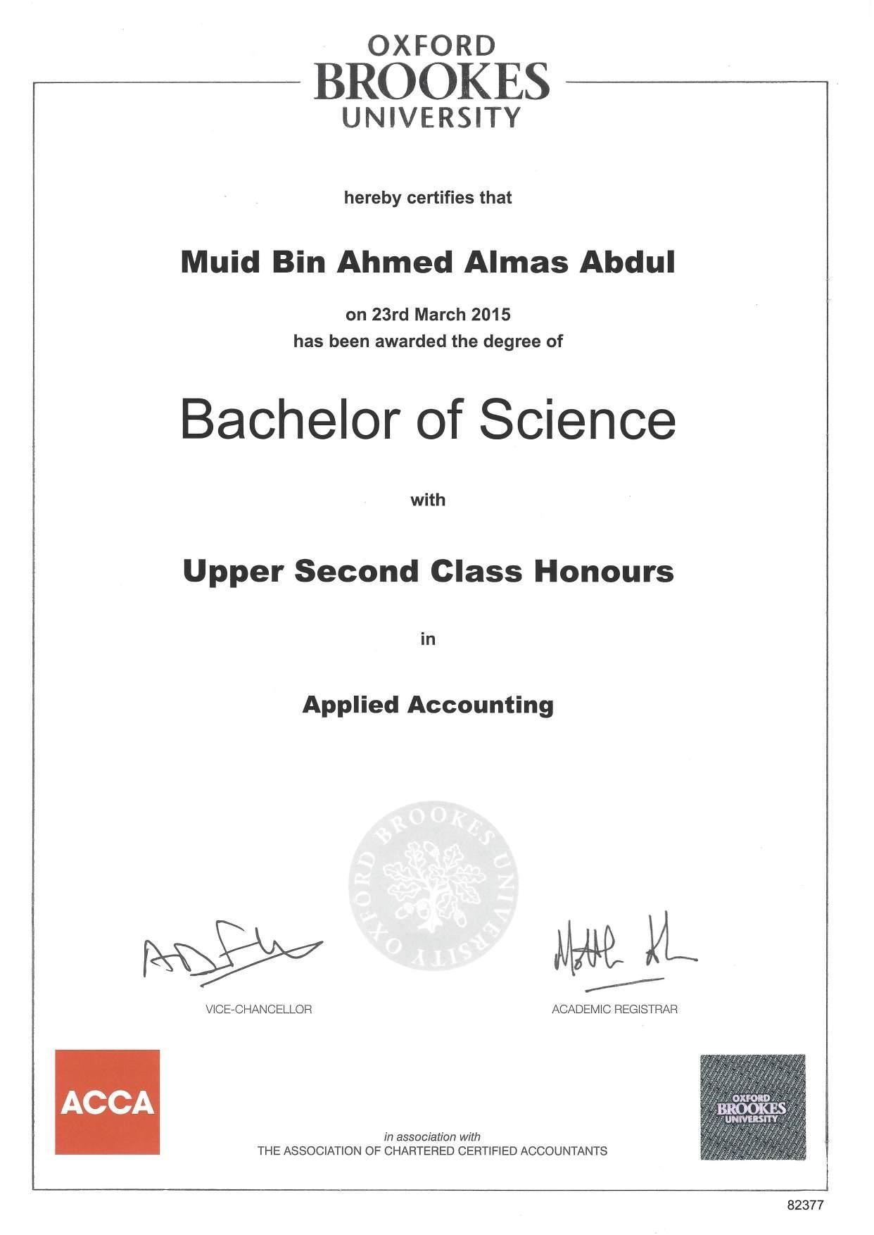 abdul mueed bin ahmed almas bayt com grade upper second class honors