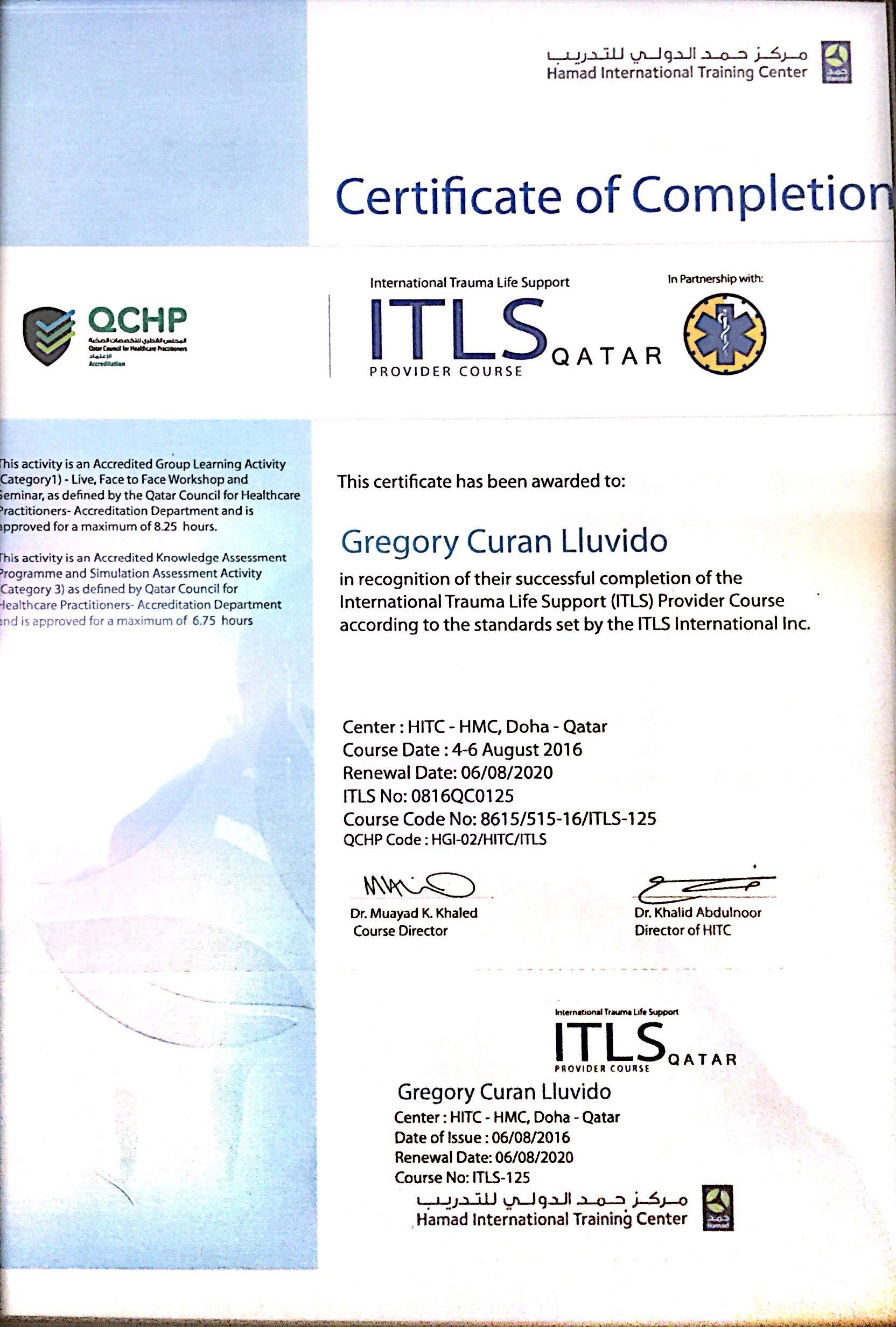 Gregory lluvido bayt training institute hamad international training center 1betcityfo Images
