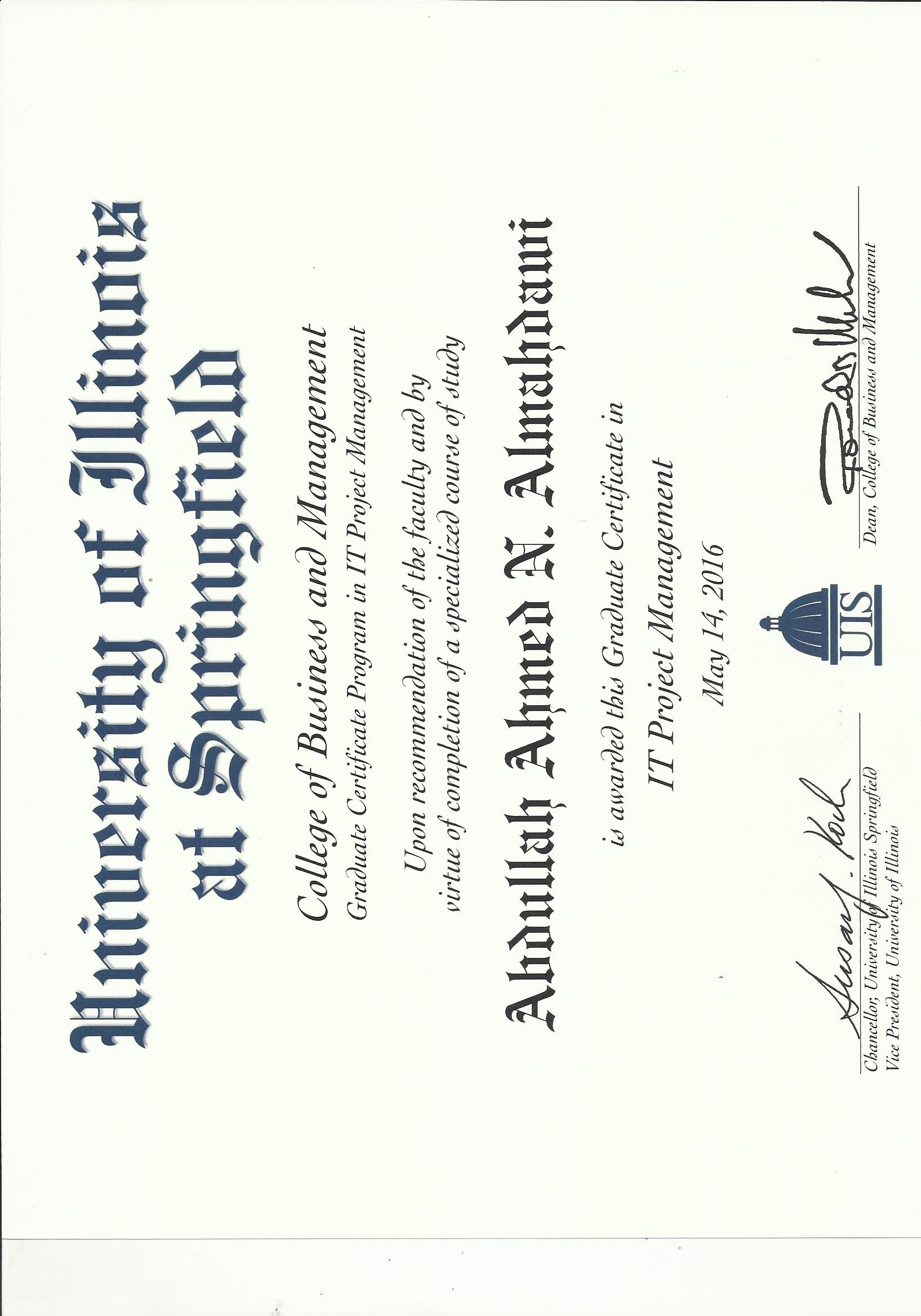 Abdullah almahdawi bayt graduate certificate it project management certificate 1betcityfo Gallery