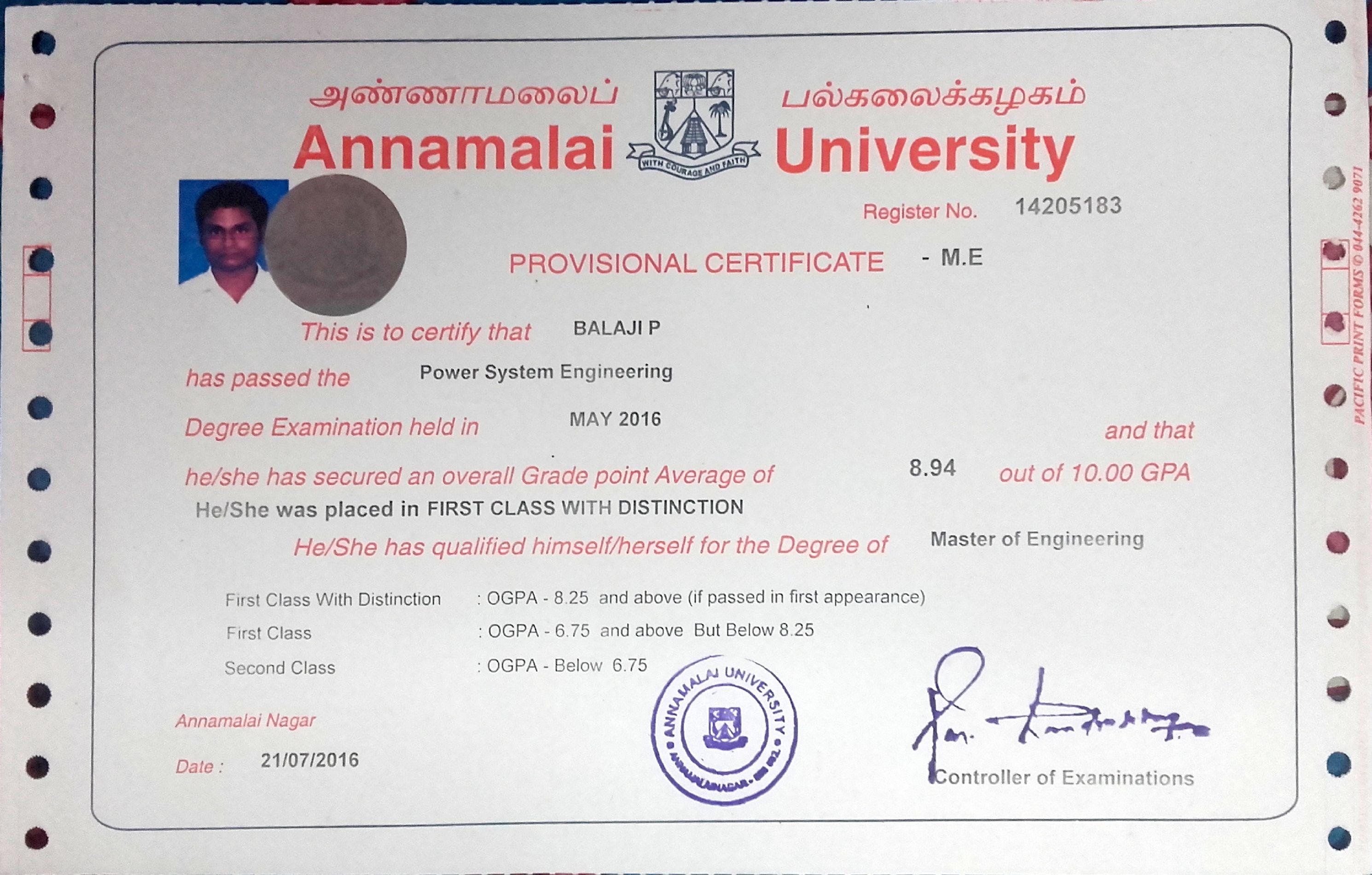 balaji palraj bayt com master s degree power systems electrical engineering