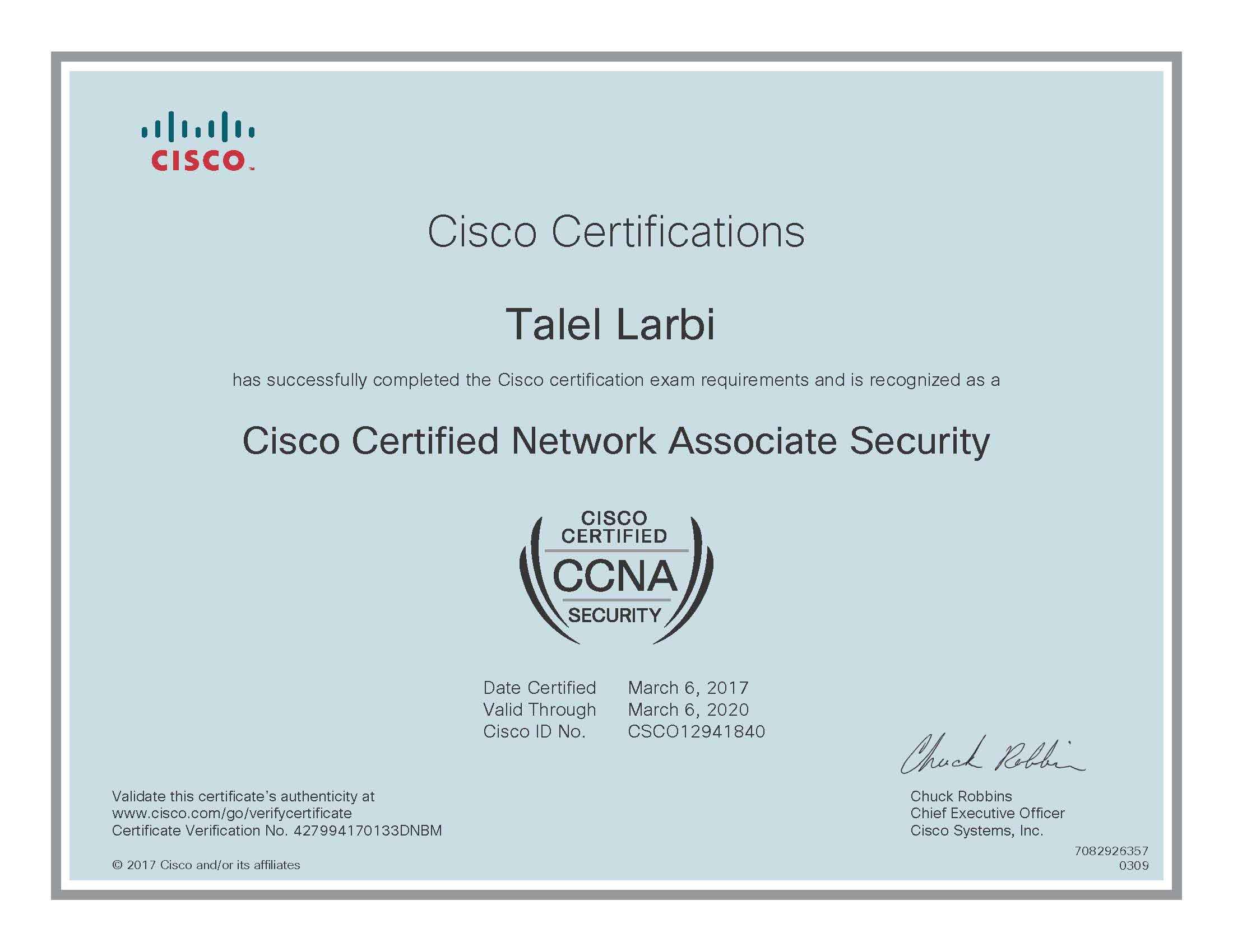 Talel larbi ceh pmp ccna security itil mcsa bayt cisco certified network associate security ccna security certificate xflitez Gallery