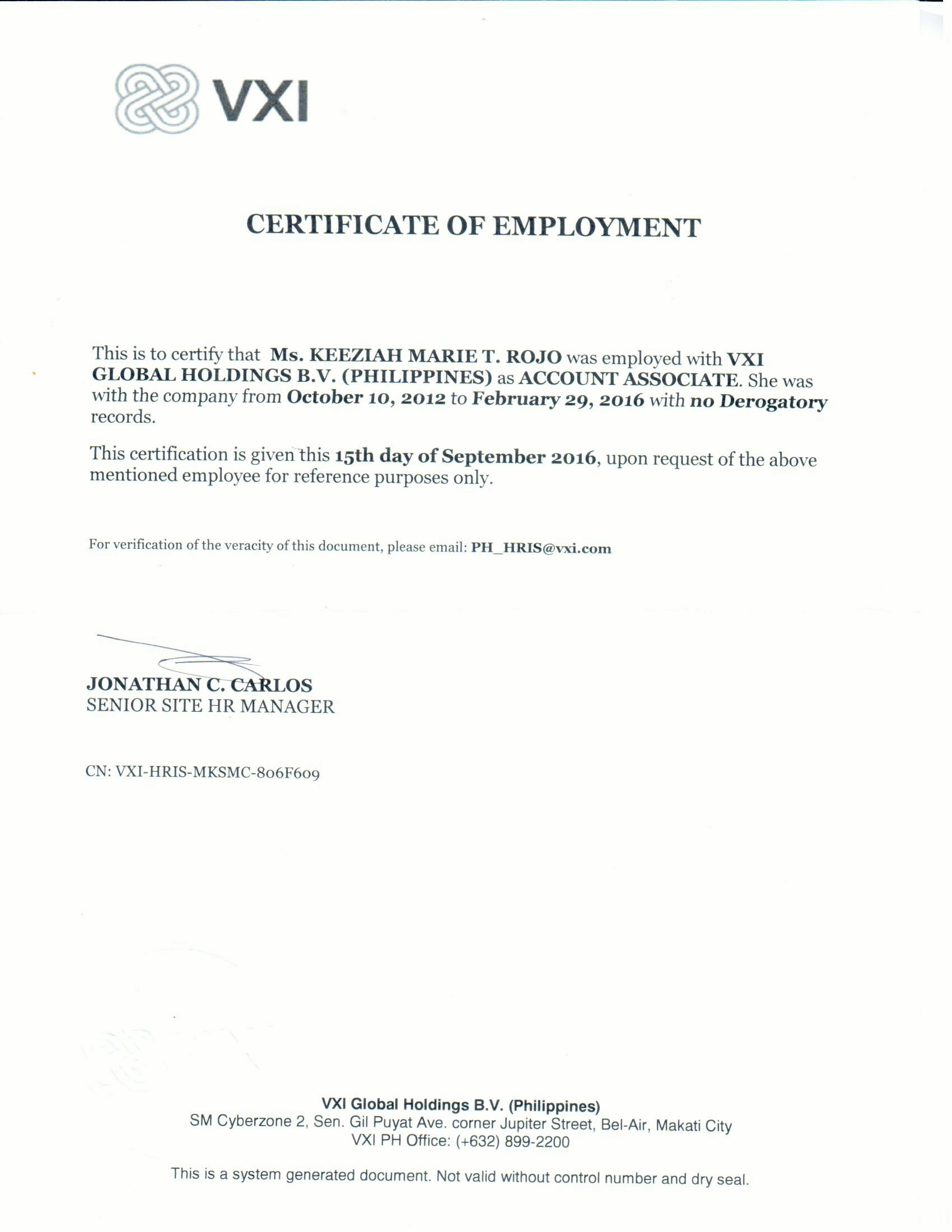 Request for certificate of employment employment letter of keeziah marie rojo baytcom 42527583 1474090224 keeziah marie rojo 35225775 request for certificate of employment request for certificate of employment yadclub Choice Image