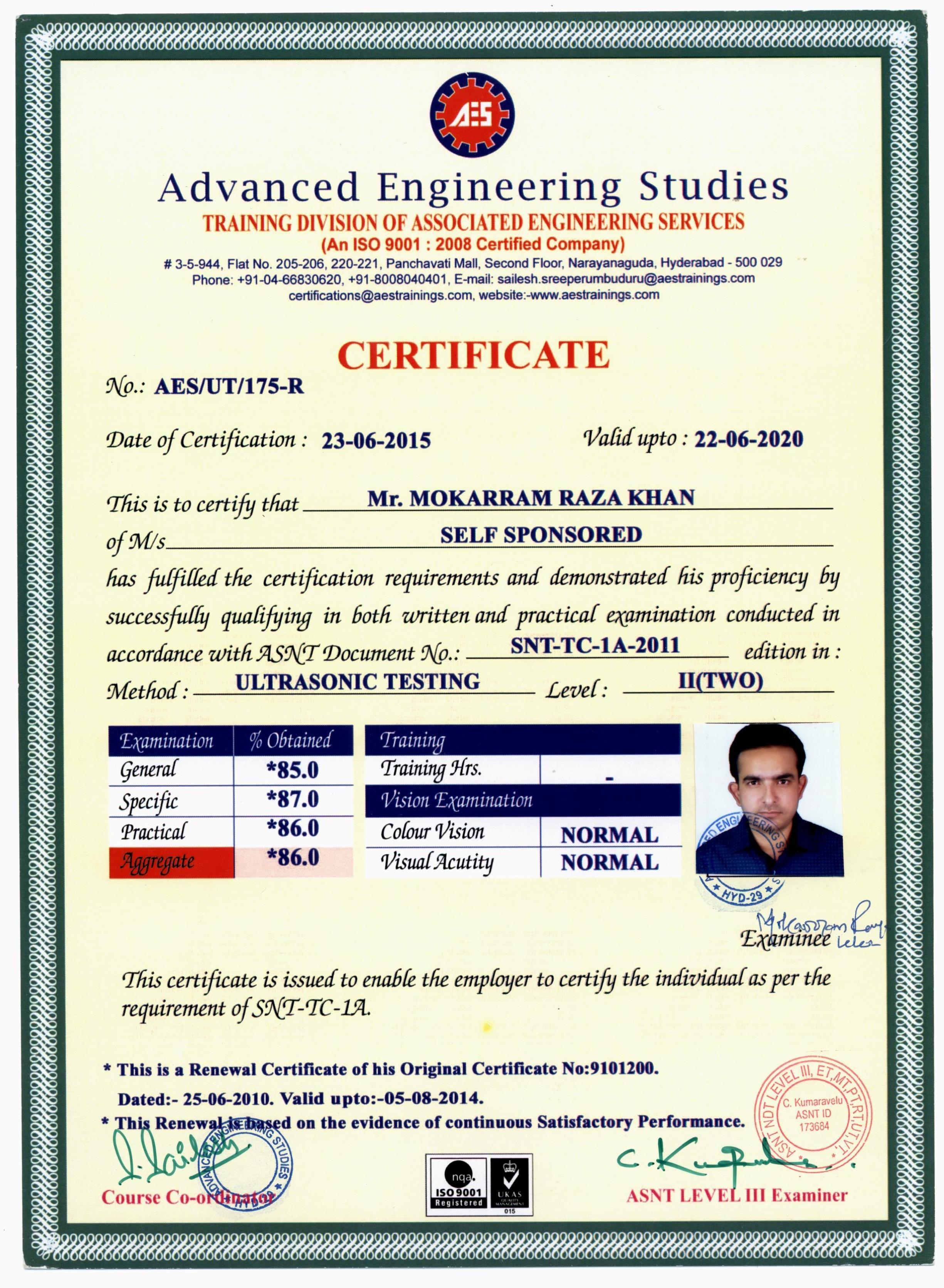 Mokarram khan mokarram bayt snt tc 1a 2011 level ii ut certificate 1betcityfo Gallery