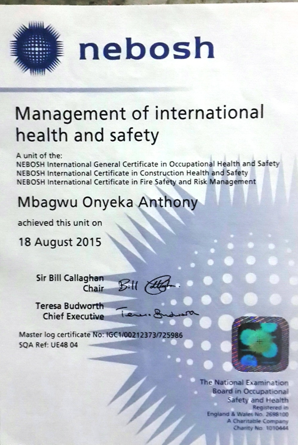 nebosh igc 3 Nebosh igc 3 management report samplepdf free download here nebosh international general certificate in occupational.