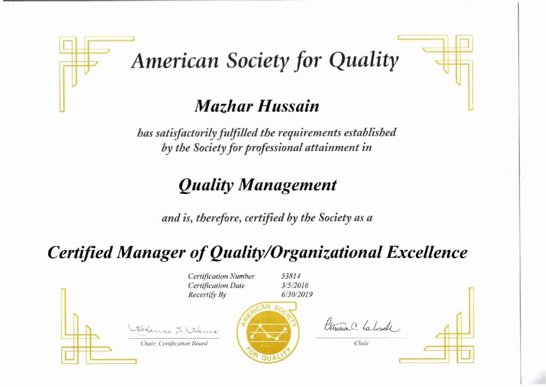 Fresh photograph of asq certification business cards and resume asq certification image source calsolutionsz mazhar hussain bayt 1betcityfo Image collections