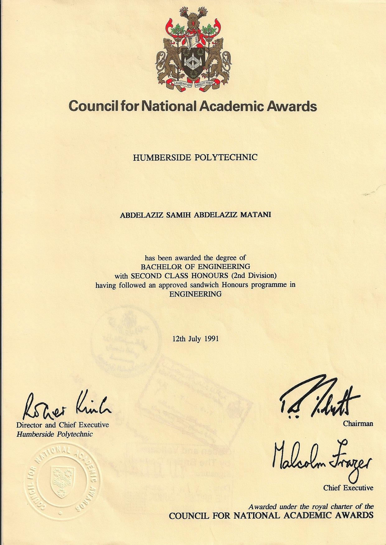 abdelaziz matani bayt com beng honours degree in mechatroncs