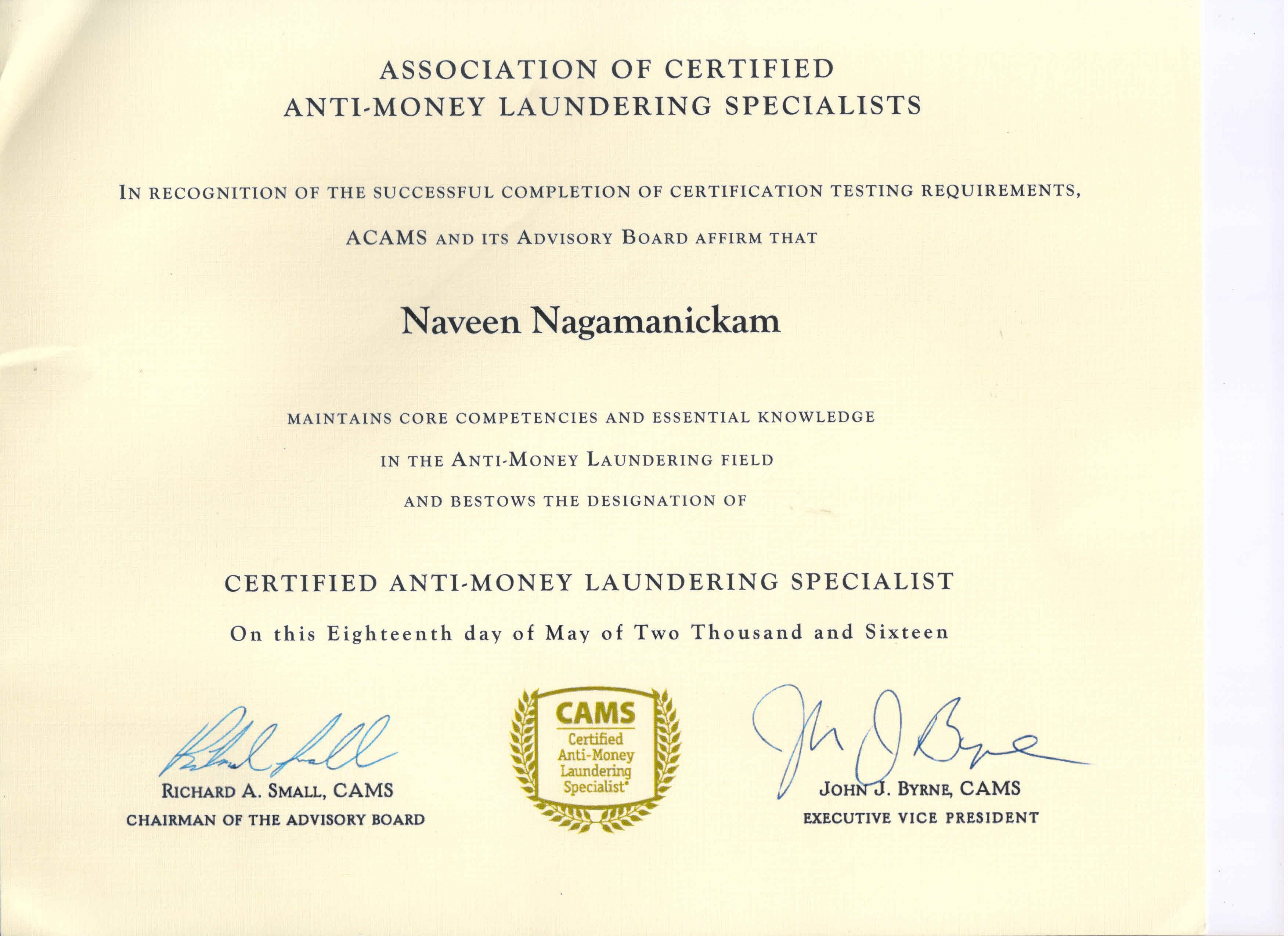 Naveen nagamanickam bayt certified anti money laundering specialist certificate 1betcityfo Choice Image