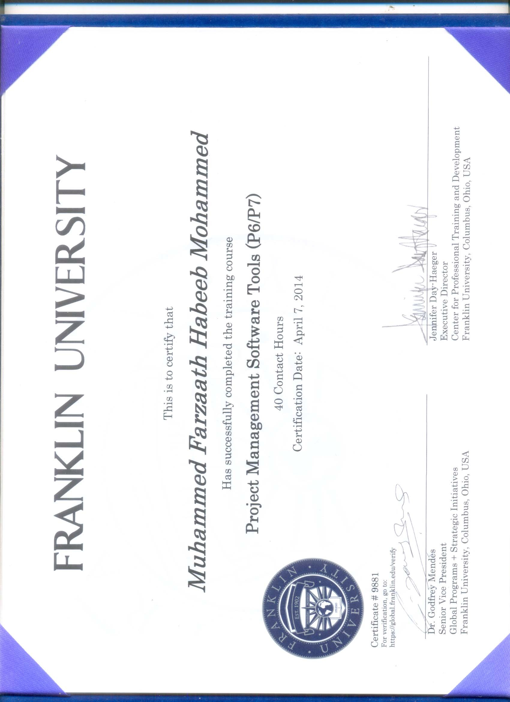Muhammed farzaath habeeb muhammed bayt training institute franklin university 1betcityfo Choice Image