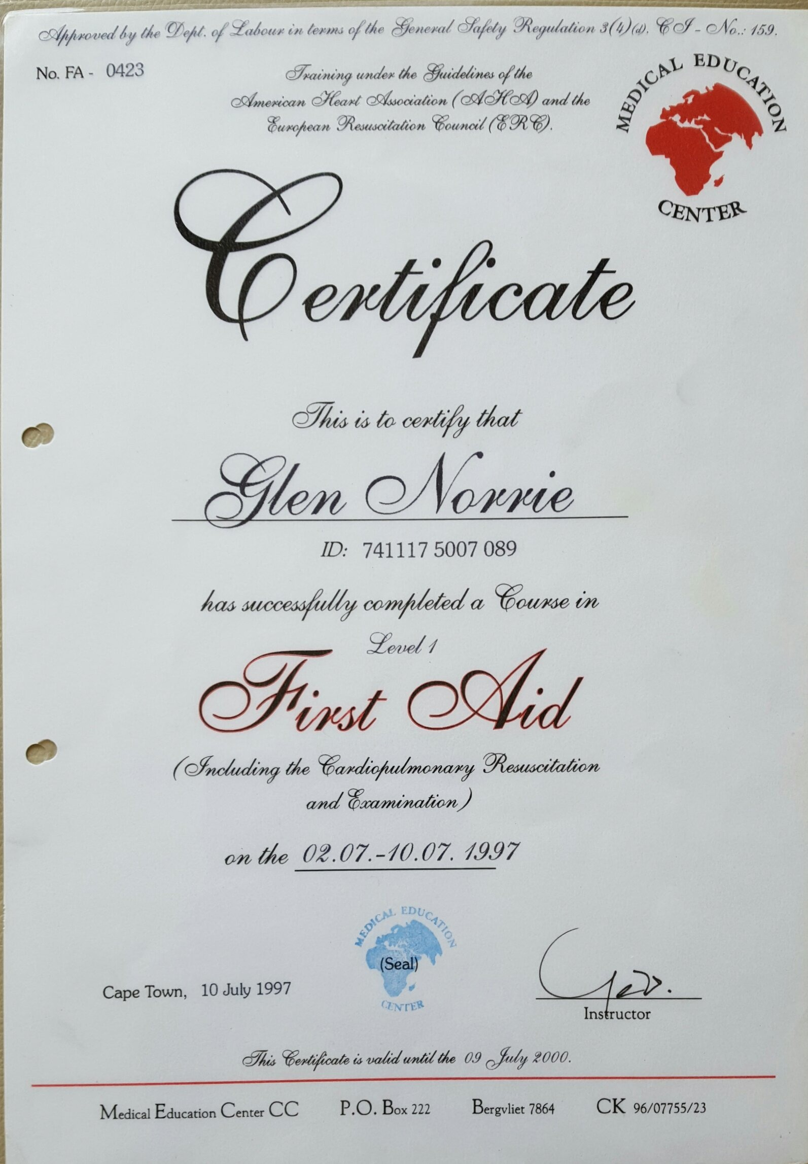 Basic first aid certificate template images certificate design first aid training certificate template choice image templates basic first aid certificate template choice image certificate 1betcityfo Gallery