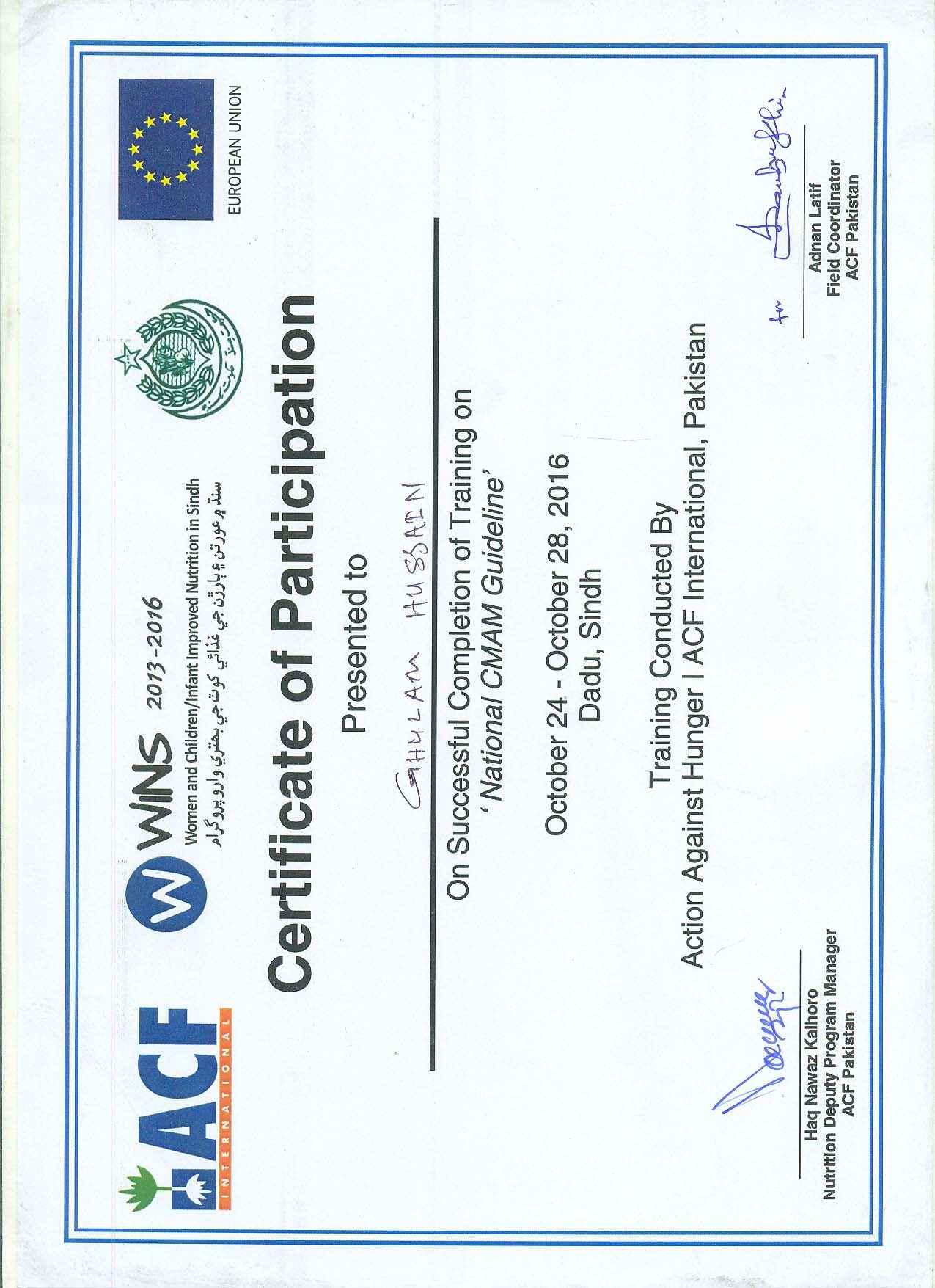 Nutrition Certificate Programs Best Design Sertificate 2018