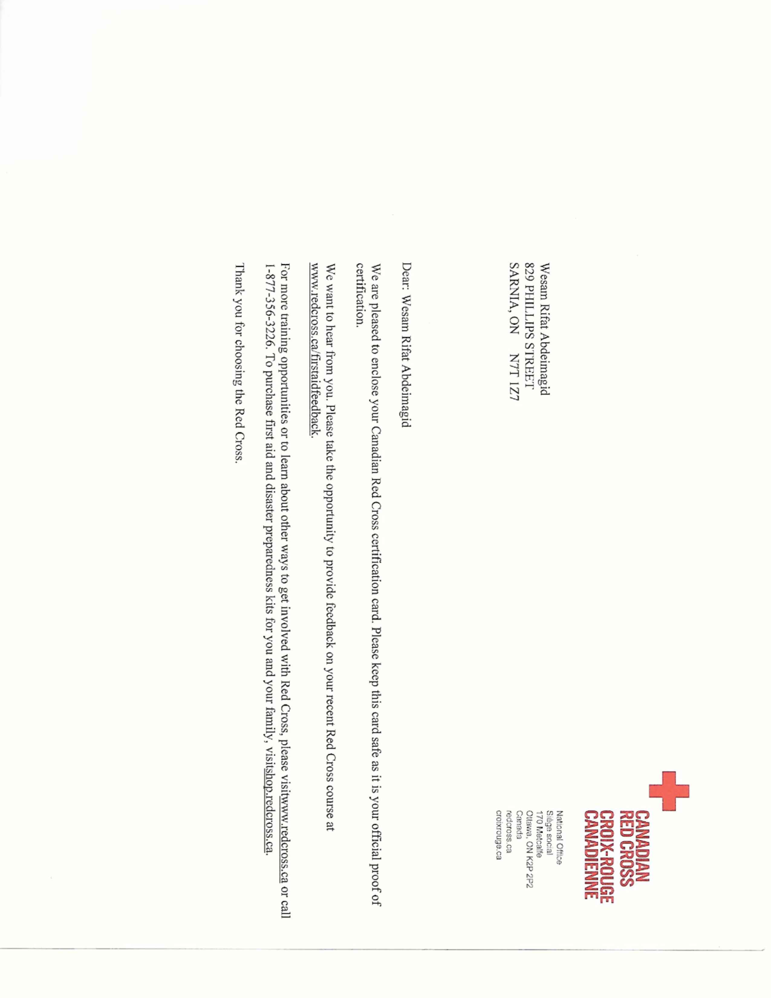 Wesam rifat abdalrhim abdelmagid bayt canadian red cross license certificate 1betcityfo Image collections