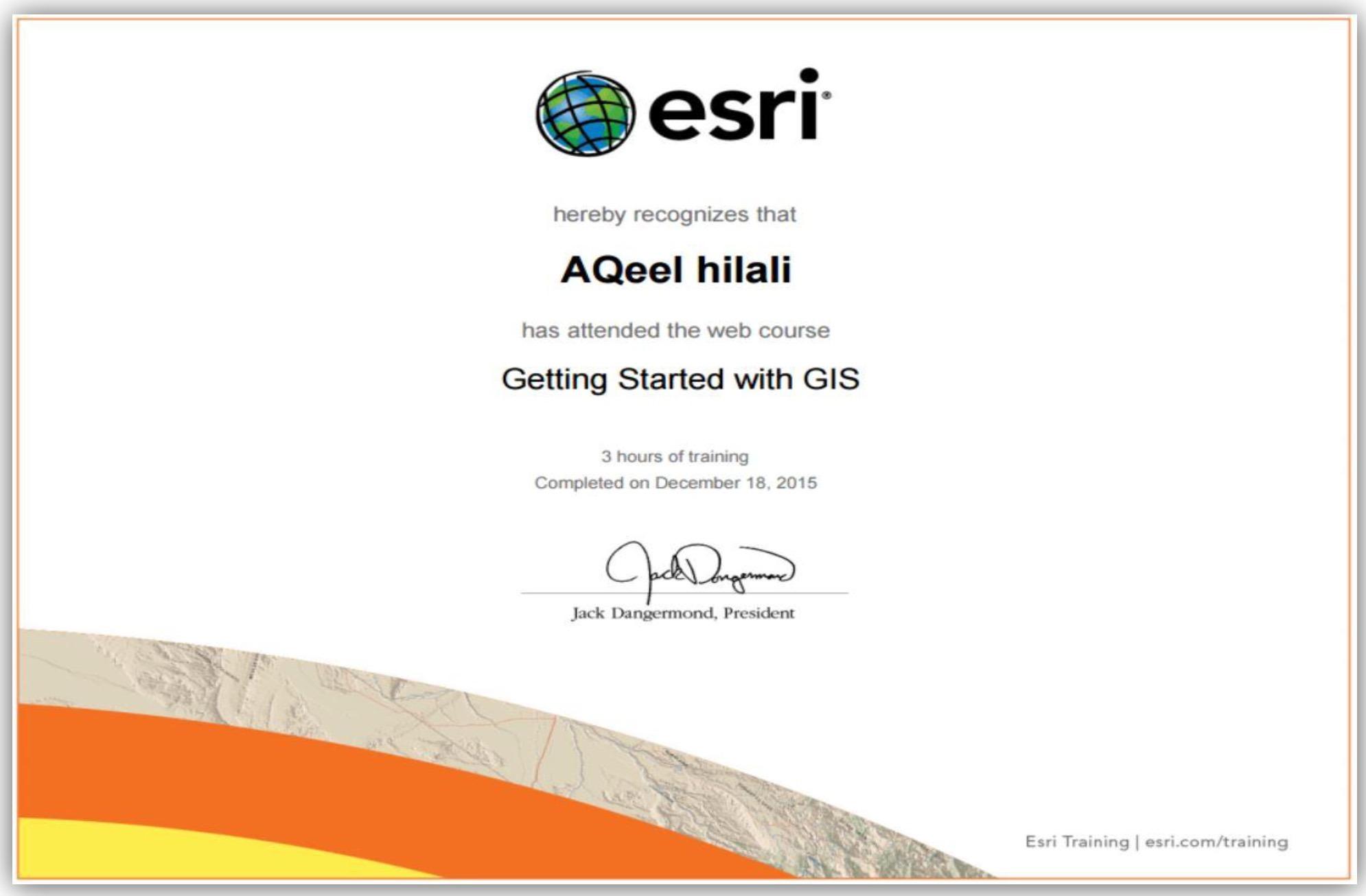 Aqeel nahi saeed bayt esrigetting started with gis certificate xflitez Gallery