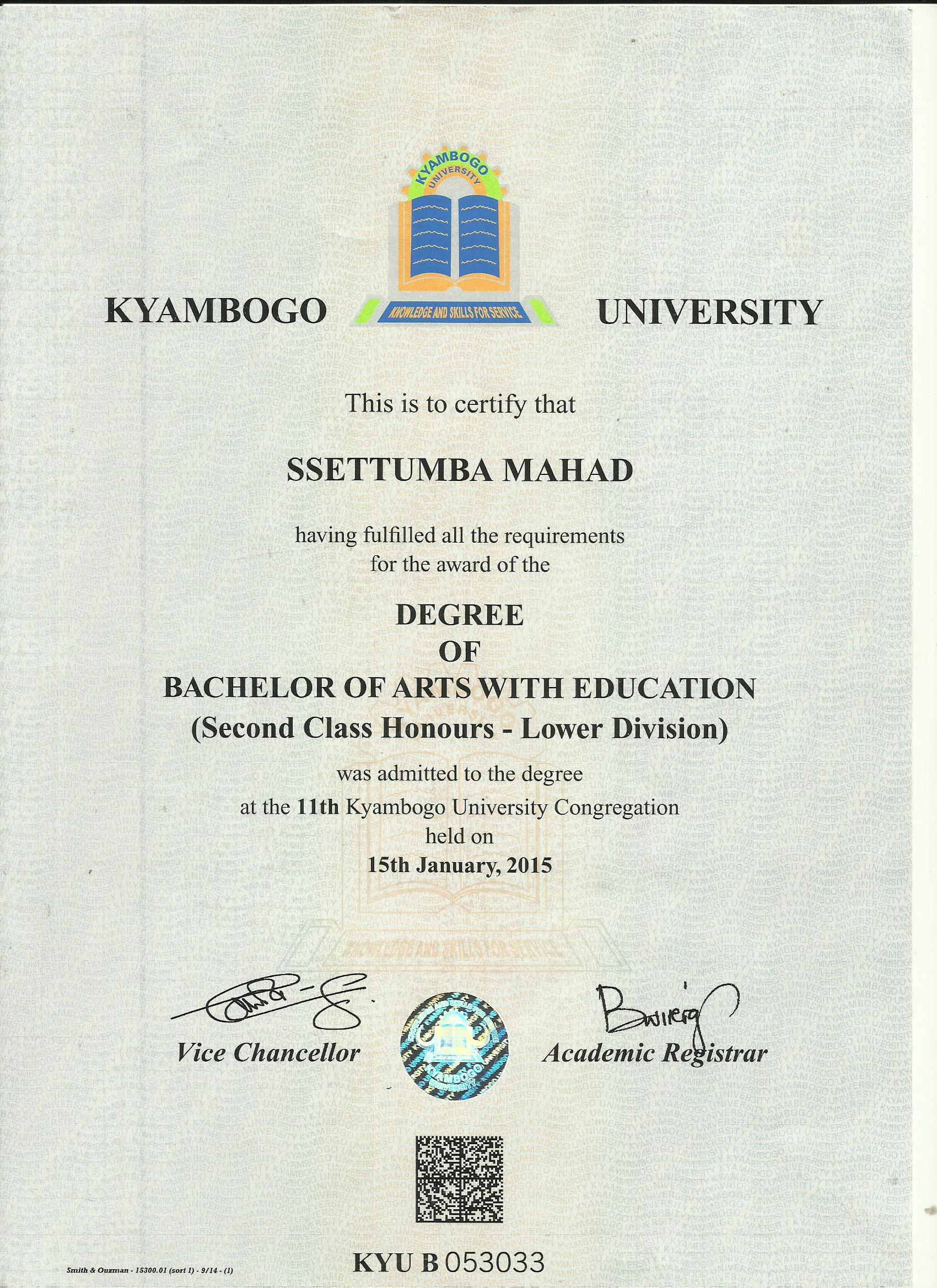 mahad ssettumba bayt com certificate