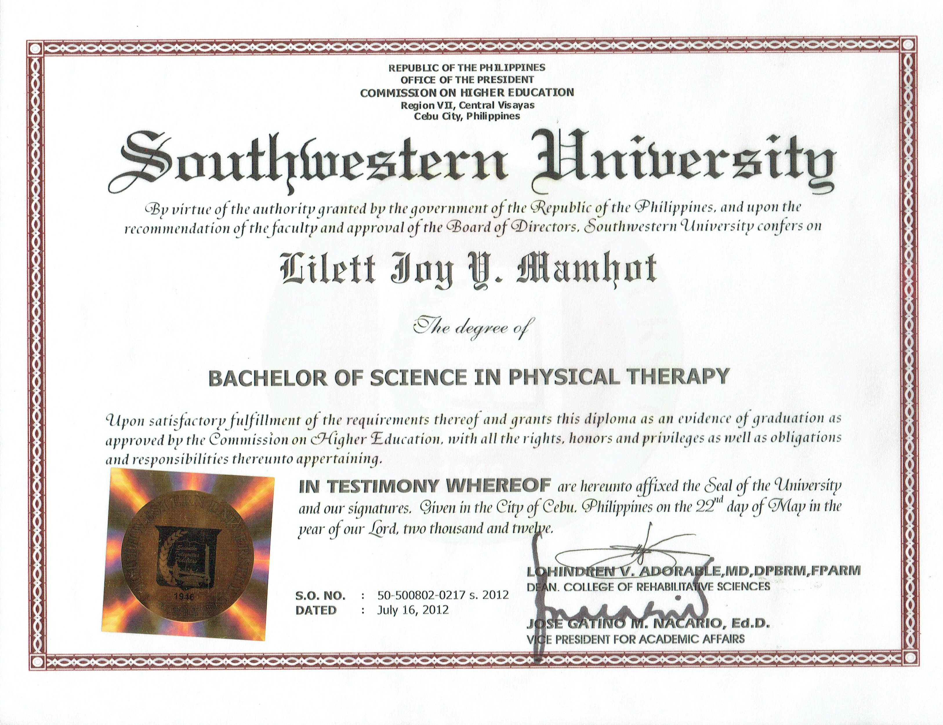 Bachelor of physical therapy - Physical Therapy Courses In The Philippines Is A Five 5 Years Course Which Deal With Human Movement Or Kinesiology Study Human Anatomy And Physiology