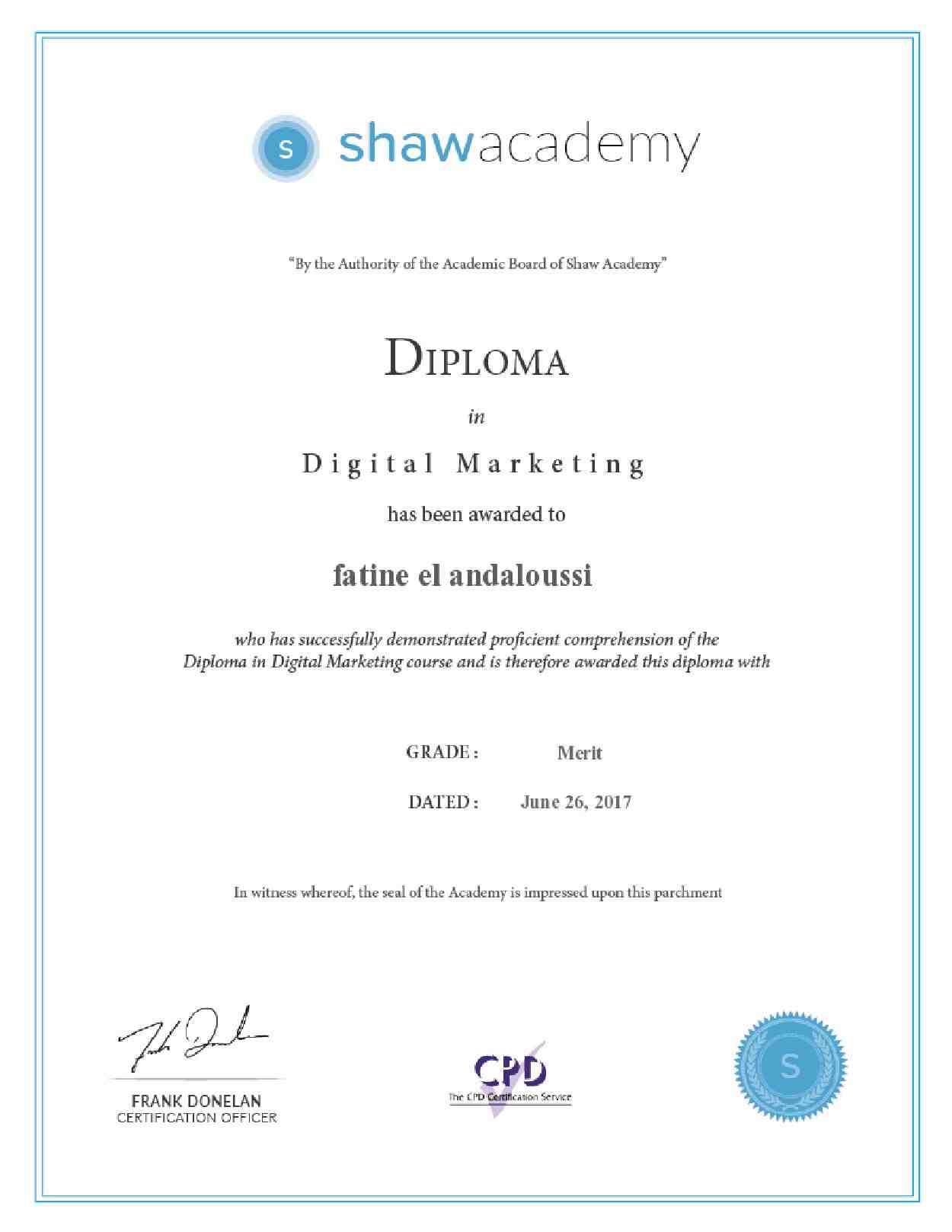 Fatine el andaloussi bayt digital marketing certificate xflitez Choice Image