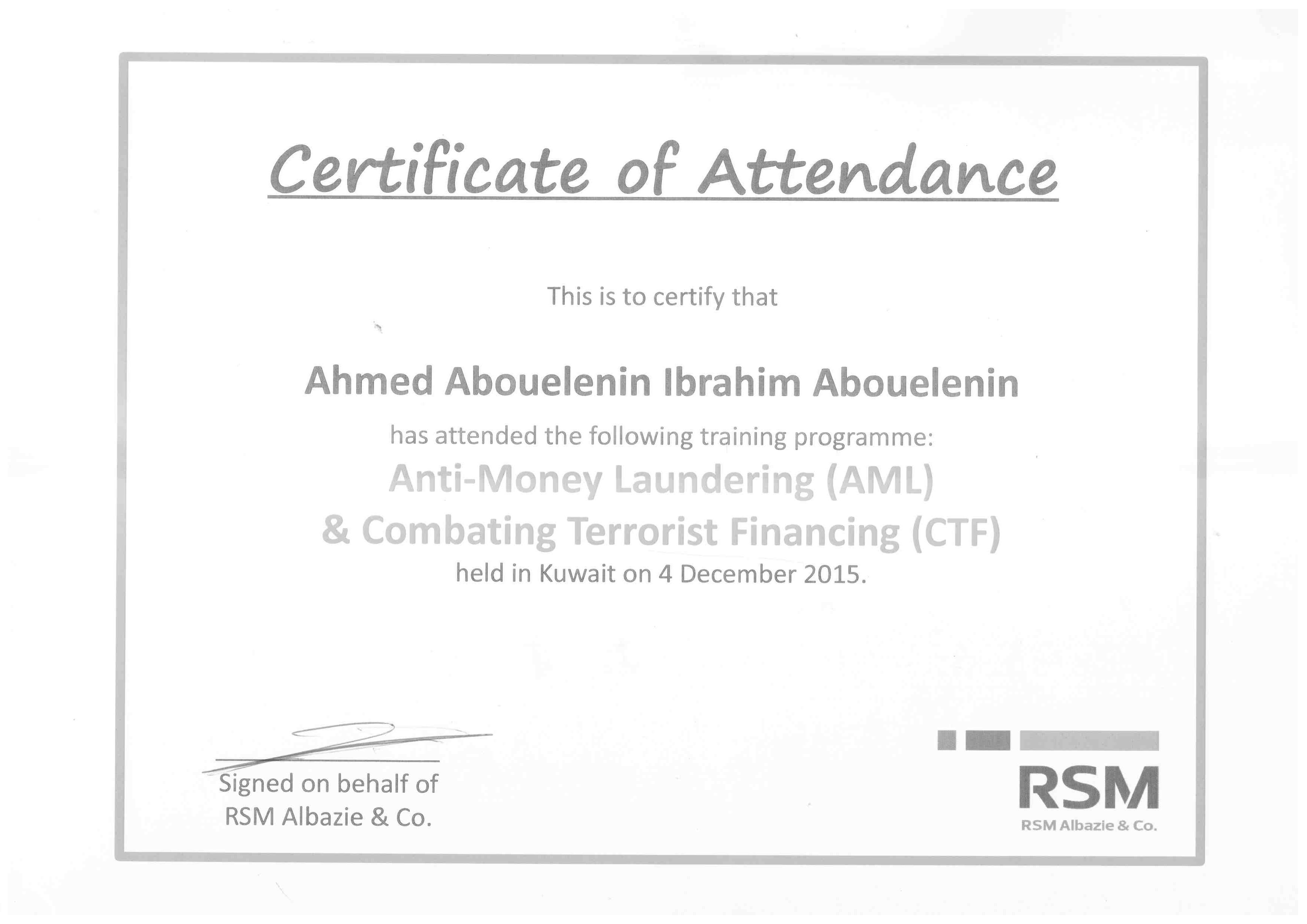 Ahmed abou elenin bayt anti money laundering certificate 1betcityfo Choice Image