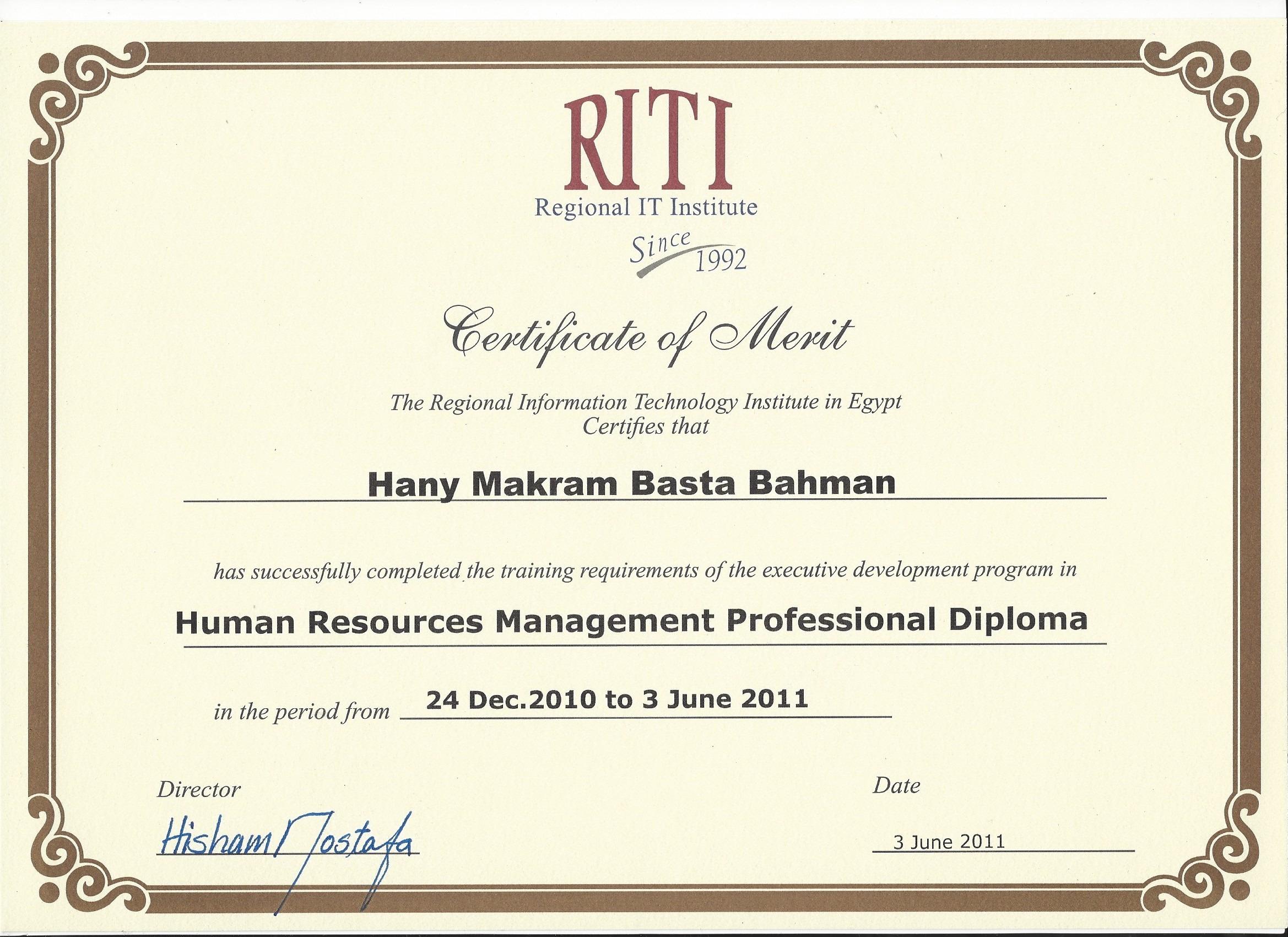 Hany makram bayt diploma human resources 1betcityfo Images