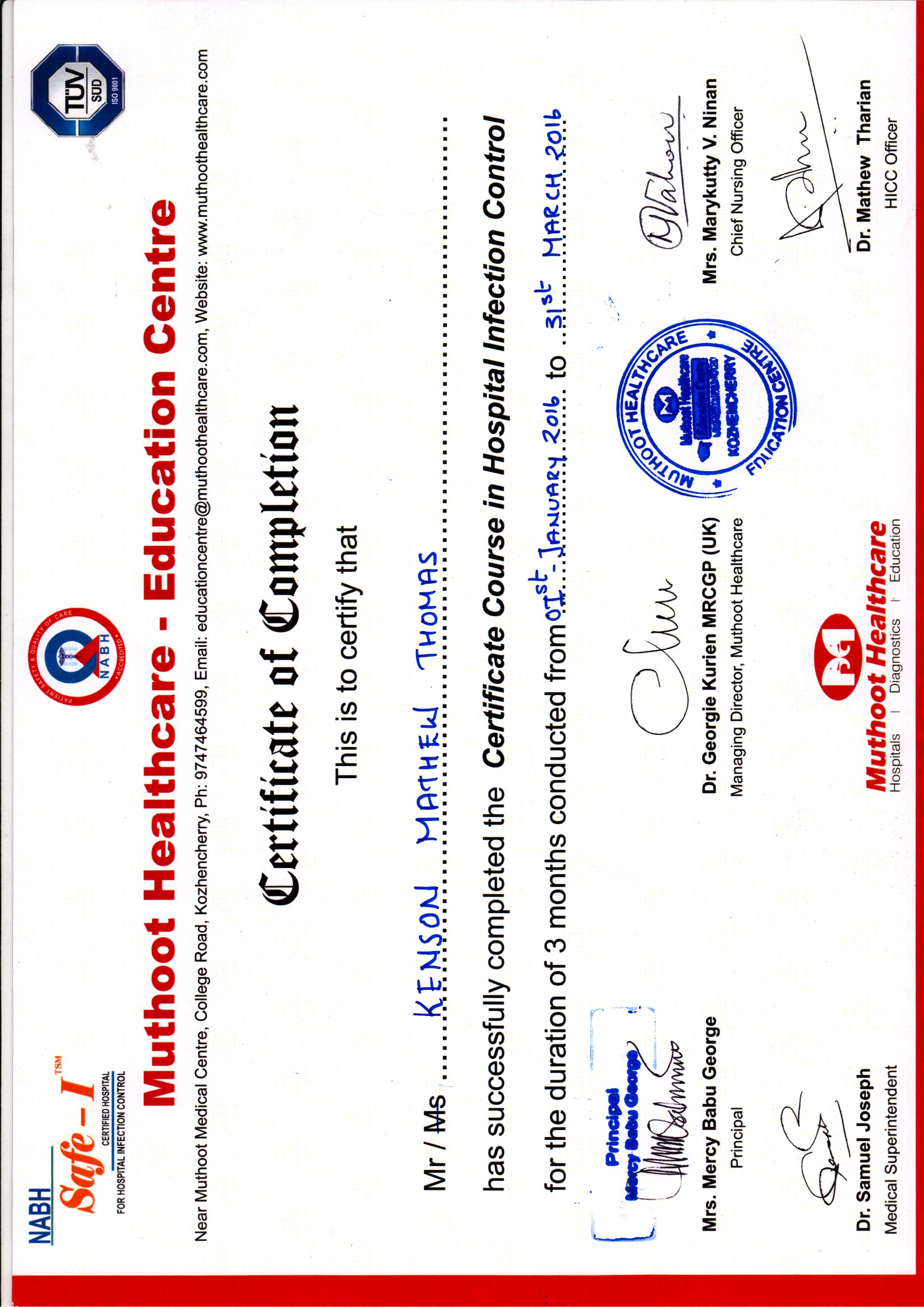 Kenson thomas bayt infection control nurse certificate 1betcityfo Image collections