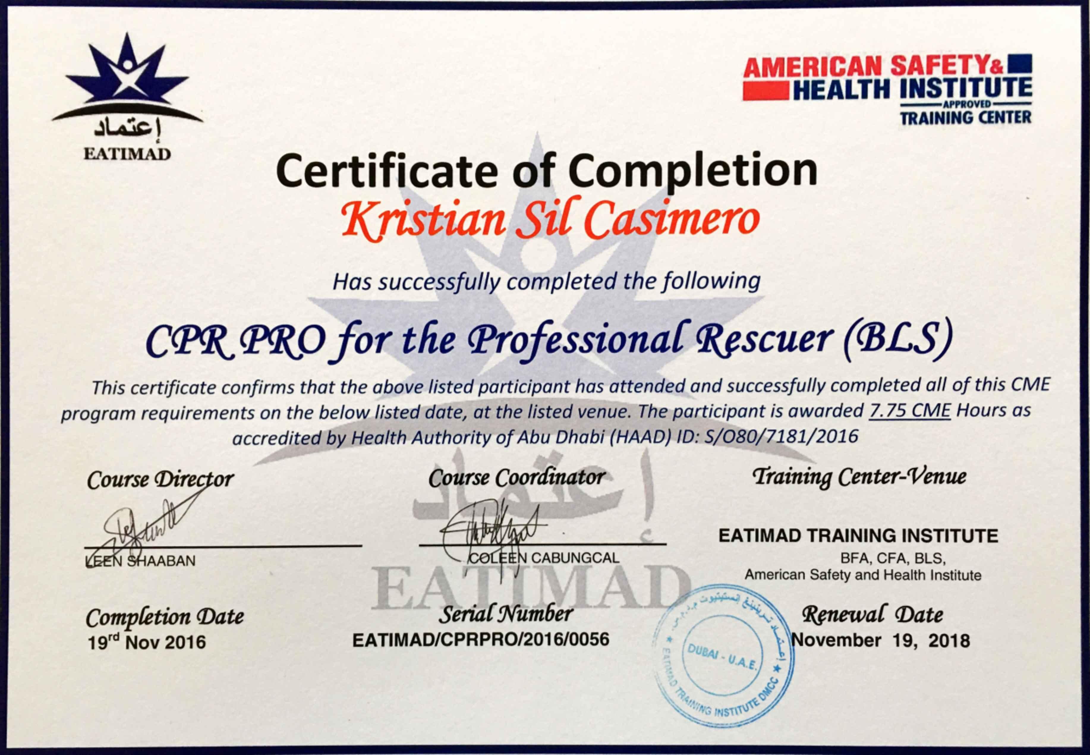 Kristian sil casimero bayt training institute eatimad training institute dubai xflitez Choice Image