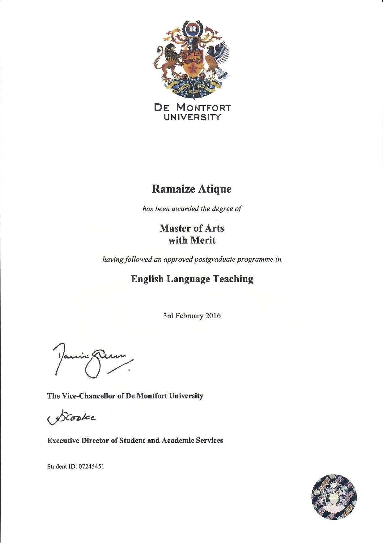 Master thesis in english language teaching