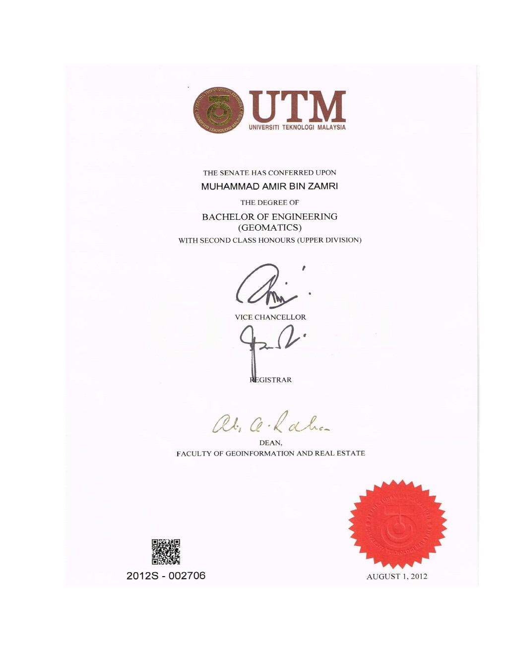 muhammad amir zamri bayt com at university of technology
