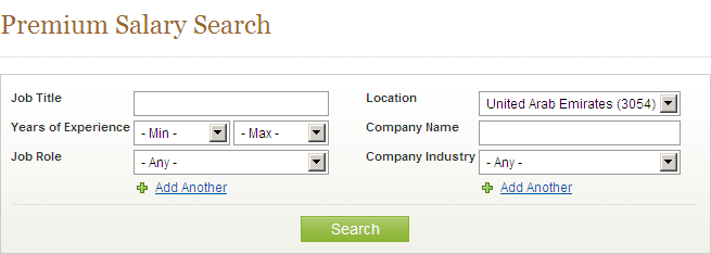 Premium Salary Search Filter